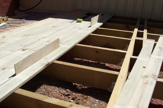 Superior Image Partially Laid Decking Boards