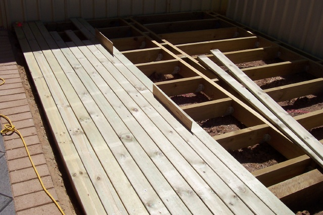 Image Partially Laid Decking Boards