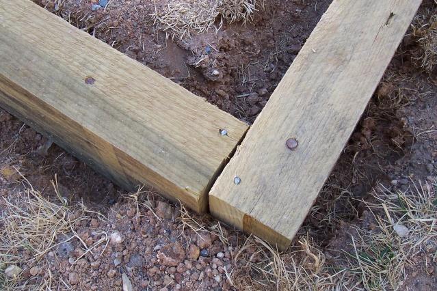 Building Timber Deck - Installing Garden Edging