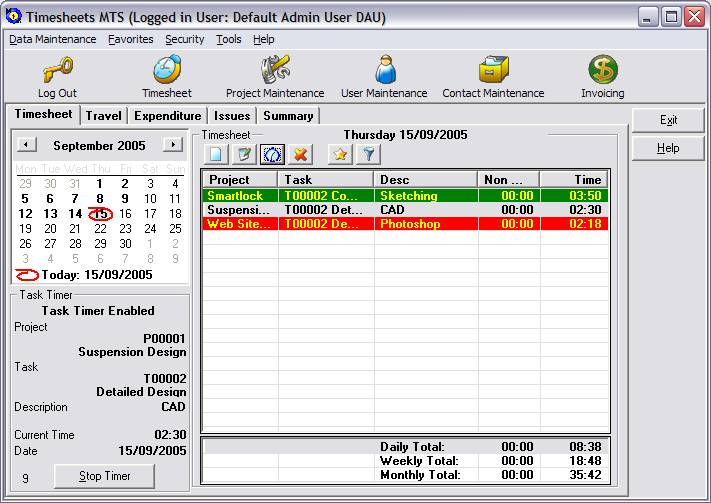Click to view Timesheets MTS 2.3.0 screenshot