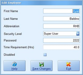 Employee Screenshot