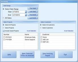 Invoicing Screenshot