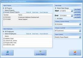 Report Configuration Screenshot