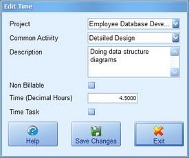 Add/Edit Time Screenshot